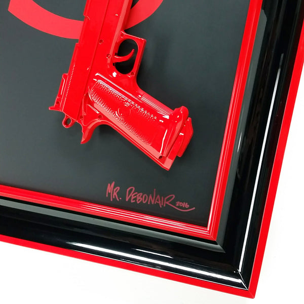 YSL Red Gun Art
