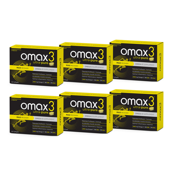 Omax3® MAX Recovery Omega 3  - 6 Boxes