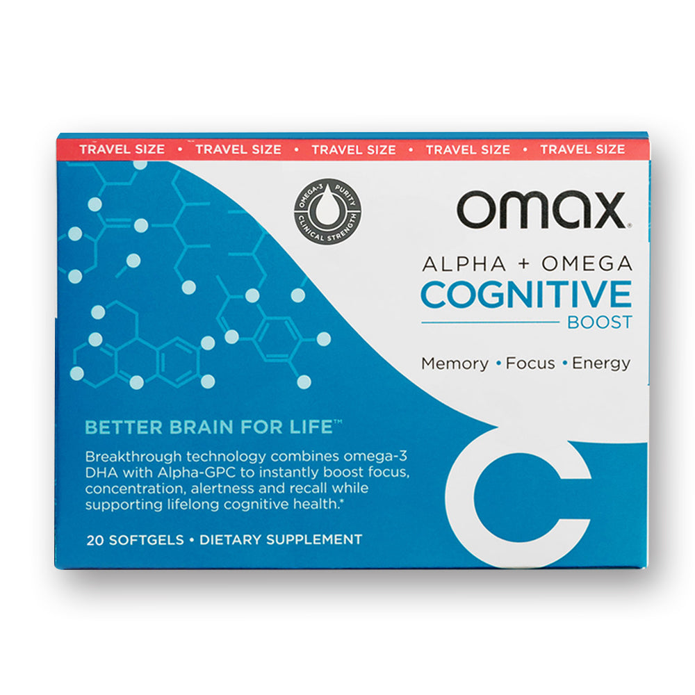 Omax® Cognitive Boost - Travel Pack - Omaxhealth.com