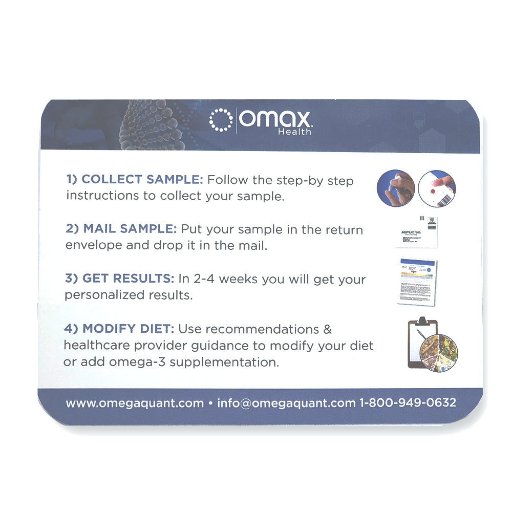 Omax Omega-3 At Home Testing Kit : Introductory Price