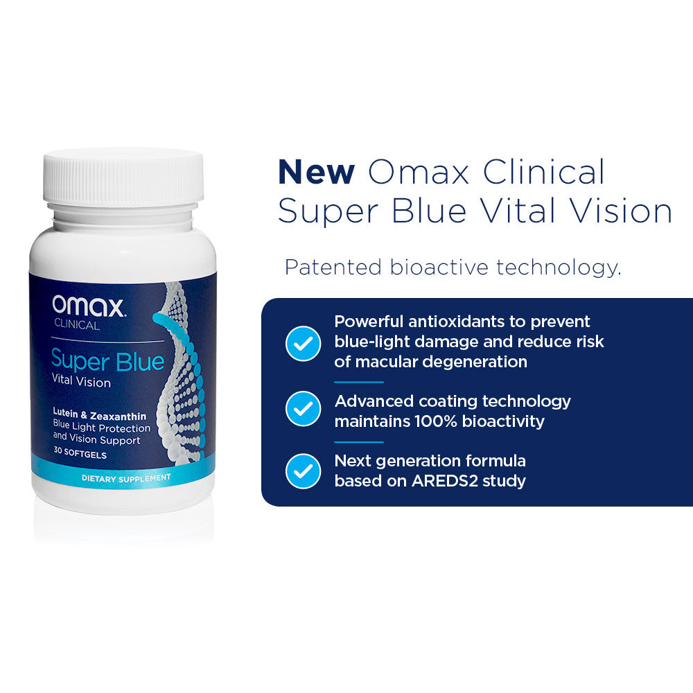Omax Health Super Blue Vital Vision Patented Technology