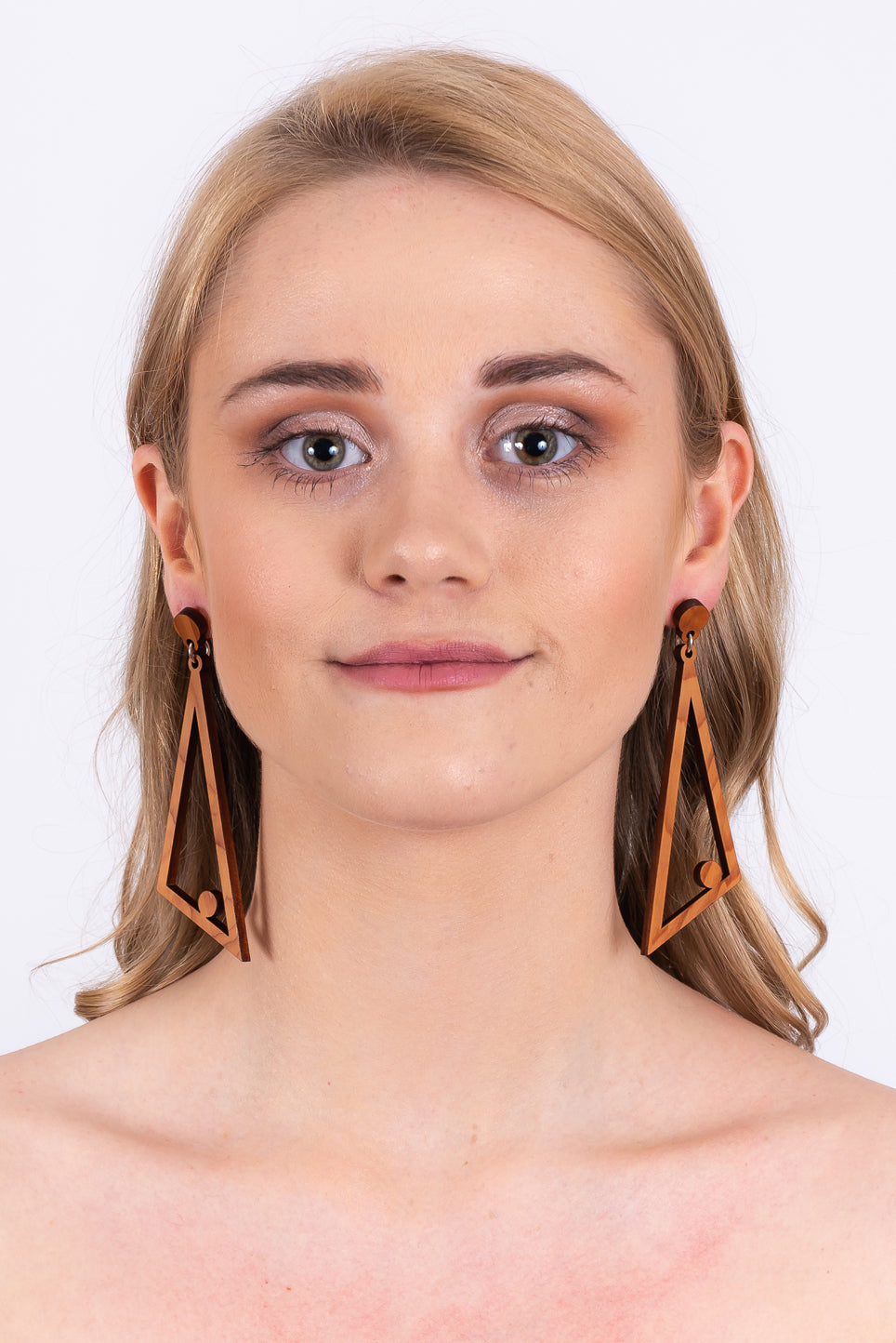 Aileen Earrings | Natural Wood