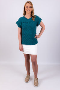 Blossom Top | Teal