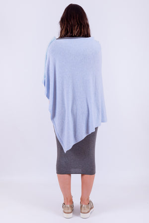 Wool Poncho | Baby Blue | Special Edition