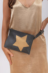 Bum Bag | Black With Gold Star