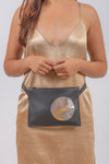 Bum Bag | Black With Silver Circle