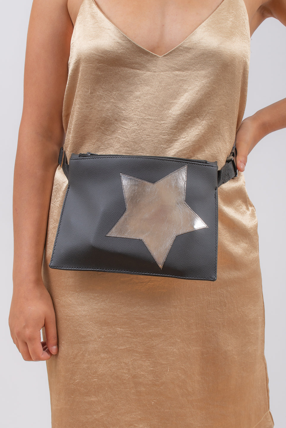 Bum Bag | Black With Silver Star
