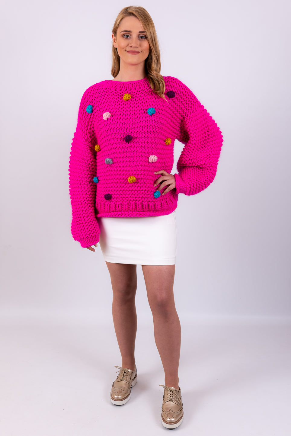Candy Sweater | Hot Pink