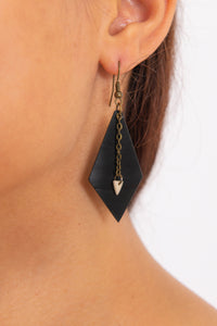 Diamond & Triangle Earrings