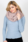 Chunky Knit Snood | Mink