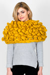 Chunky Knit Oversized Body Snood | Mustard Yellow