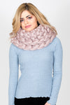 Oversized Chunky Knit Snood | Mink