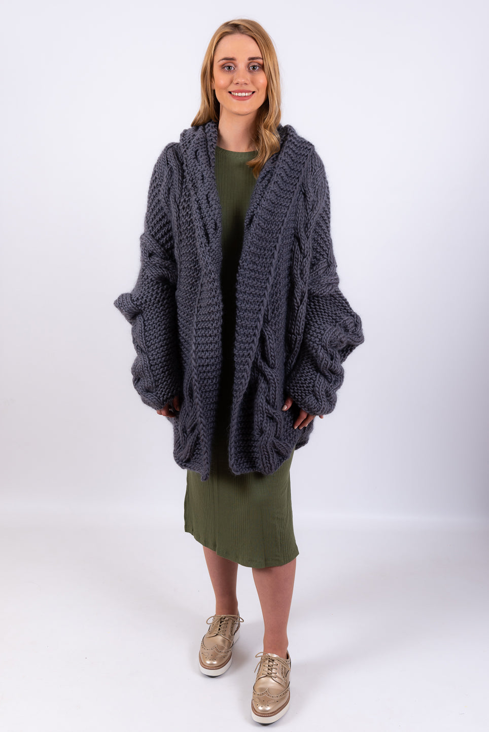 Get Lost Oversized Cardigan | Grey