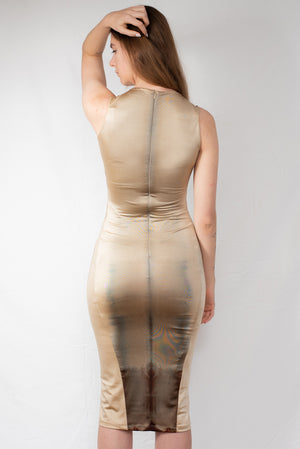 Gold Shibori Shark Dress