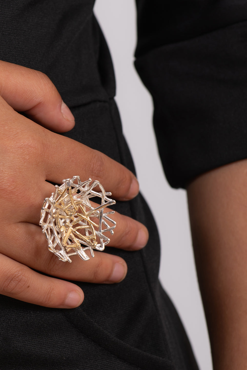 Perfect Chaos Ring | Sterling Silver & Gold