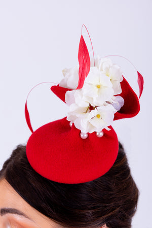 Occasion Hat | Red & White