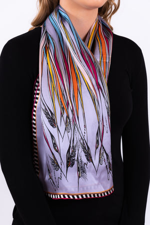 Silk Scarf | Birds in the Reeds
