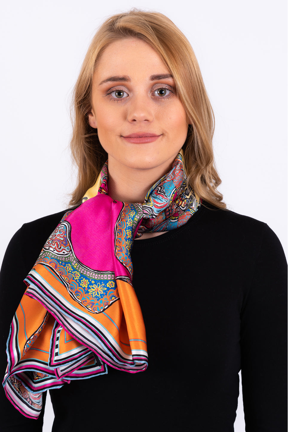 Silk Scarf | Butterfly Squares