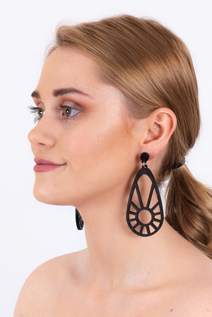 Sundial Earrings | Black