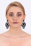 Tetris Earrings | Black