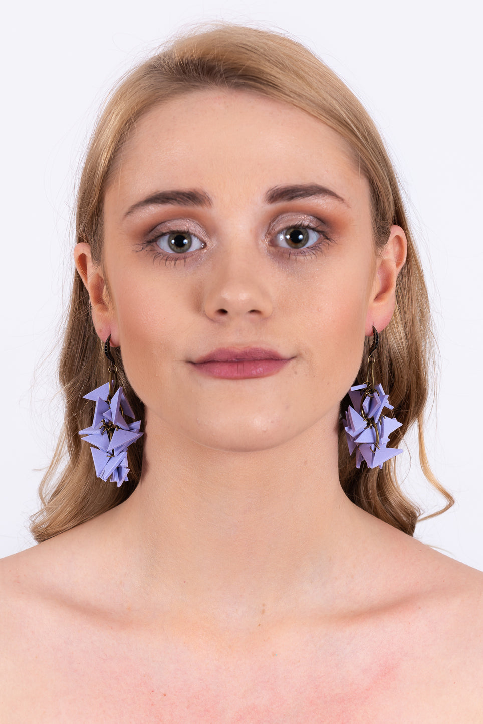 Triangles Drop Earrings | Purple