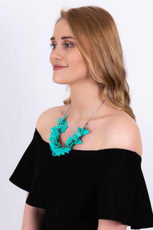 Triangles Necklace | Turquoise