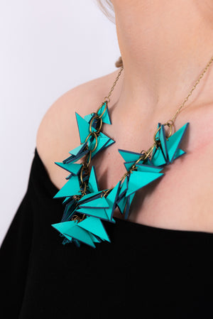 Triangles Necklace | Special Edition Turquoise & Grey