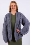 Twisted Cardigan | Grey