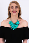 V Shaped Necklace | Turquoise
