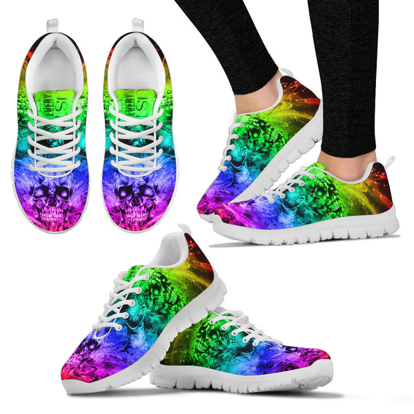 Rainbow TATTOO ART Women's SNEAKERS - White Sole