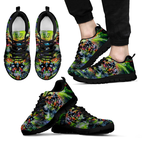 Tattoo Art Men's Sneakers - Black Sole
