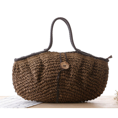 Women's Summer Woven Straw Beach Handbag