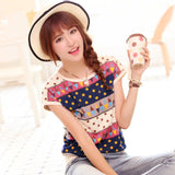Summer Unique Printed Short Sleeve T-shirt