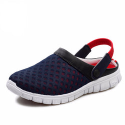 Men's Summer Outdoor Slip-On Beach Shoes/Flip-Flops Mesh Lighted