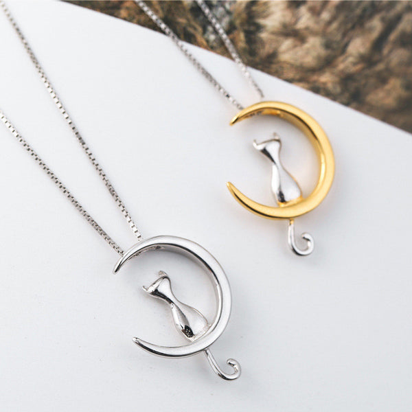 The Original Creative Moon Cat Express Necklace Jewelry & Pendant
