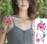 3D lifelike Cherry Blossoms Flowers Waterproof Temporary Tattoos