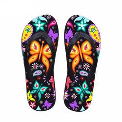 Butterfly Prints Women Flats Beach Slippers Summer Flipflops