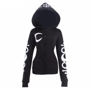 Eclipse Witch Craft Hoodie with Oversized Hood