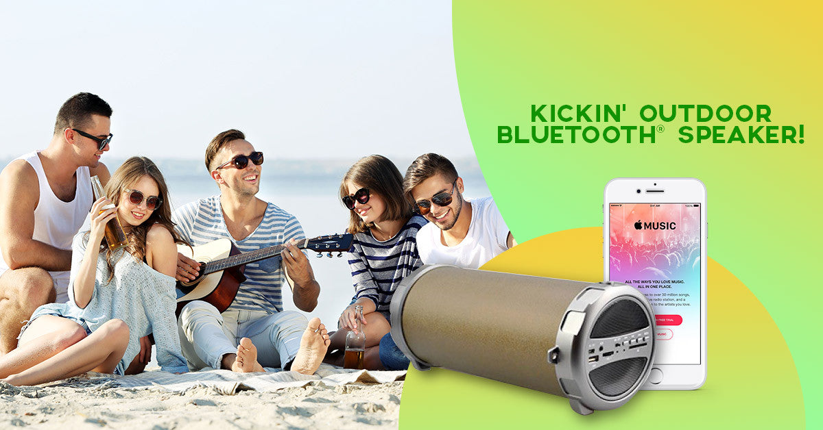 Bluetooth Indoor/Outdoor Wireless Speaker w/Subwoofer