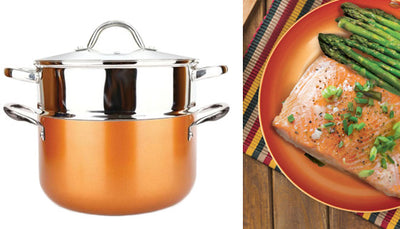 10 Pc Deluxe Copper Cooking Set