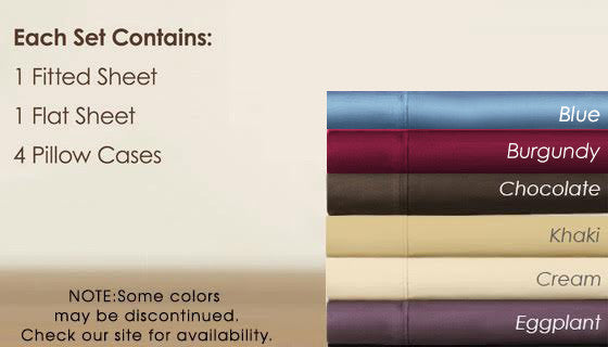 Regal Comfort Designer Collection 1600 Series Sheets