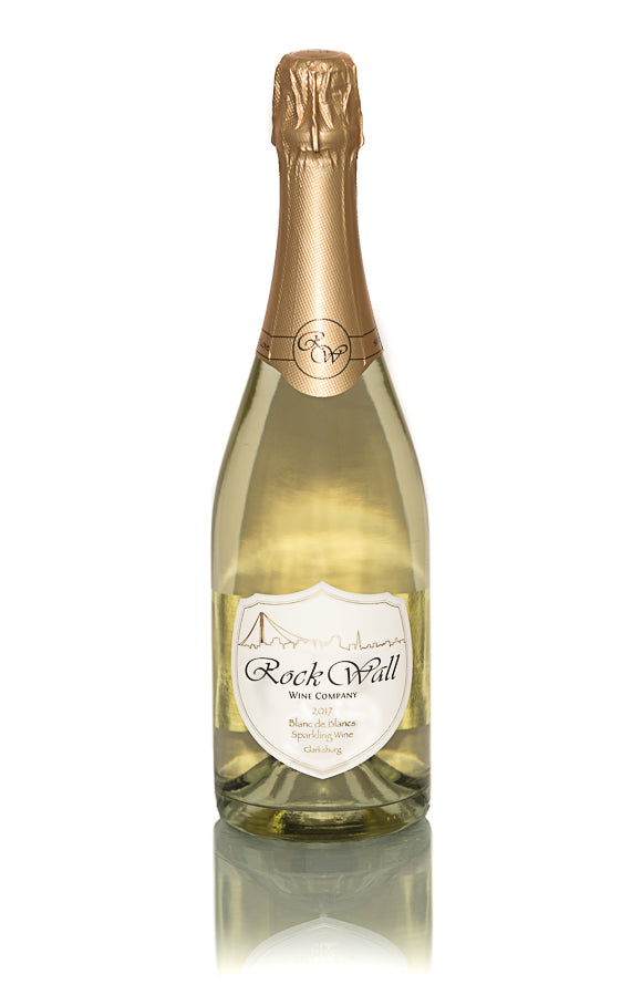 Rock Wall Blanc de Blanc sparkling wine champagne Rosenblum Travelfood Curated Wines travelfood.com