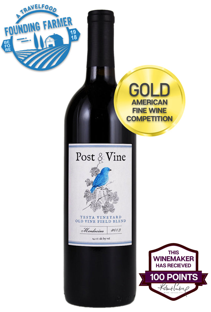 POST & VINE Old Vine Field Blend 2013, Mendocino - 100 Point Winemaker