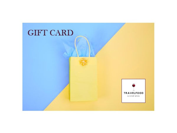 wine gift card, travelfood.com, travelfood curated wines, gift wine, Arriere