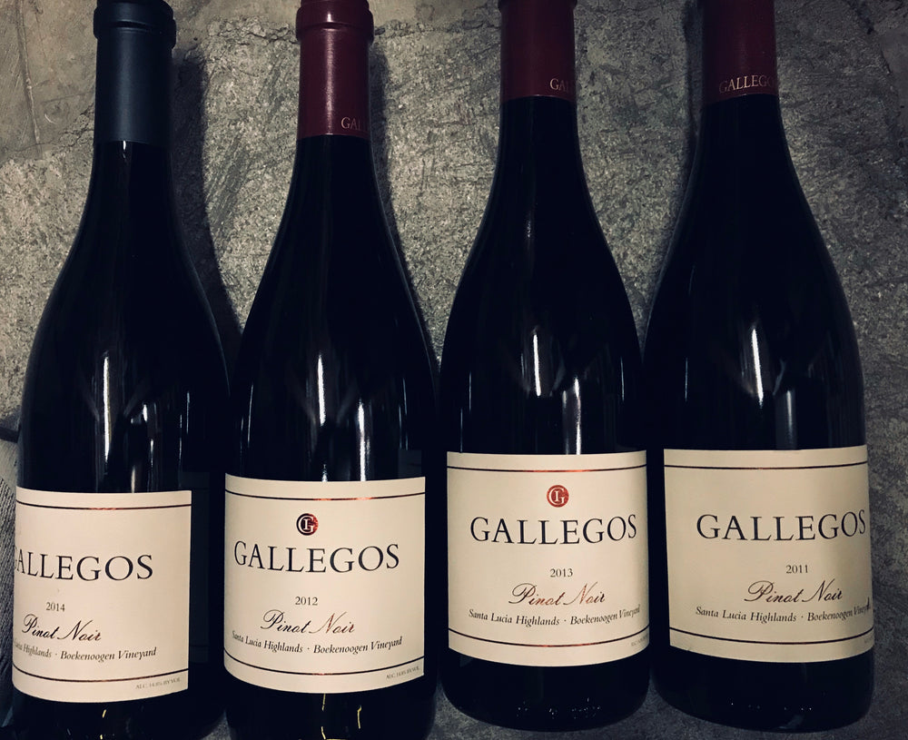 GALLEGOS WINES Pinot Noir Vertical, Santa Lucia Highlands