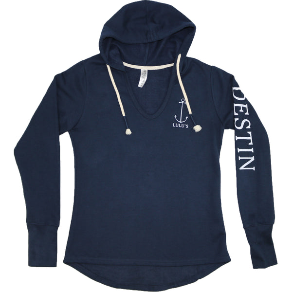 Anchor V-Neck Hoodie