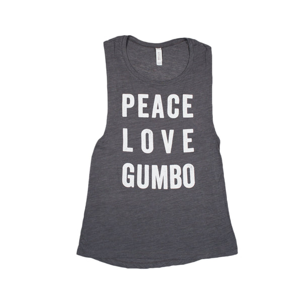 PEACE LOVE GUMBO MUSCLE TANK