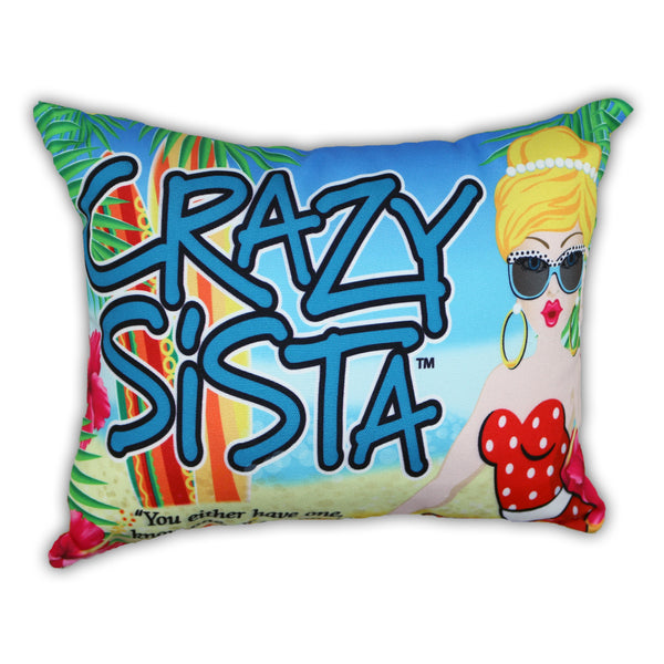 Crazy Sista Indoor/Outdoor Pillow
