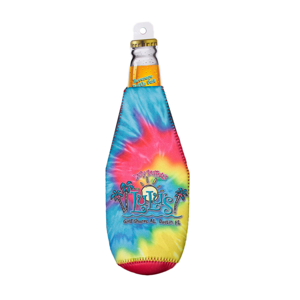Tie Dye Bottle Koozie with Opener