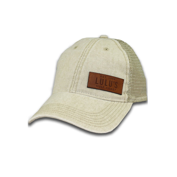 LEATHER PLATE TRUCKER HAT